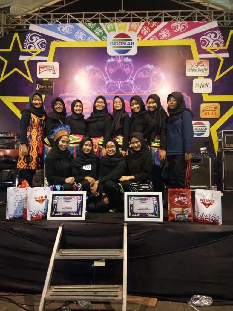LSO SENAM PGSD UAD meraih juara III dalam senam kreasi Semarak Indosiar 2018